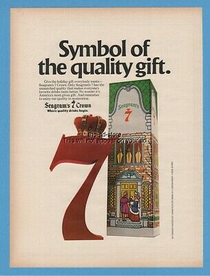 1979 Seagrams 7 Crown Whiskey Quality Gift Christmas Vintage Photo Print Ad