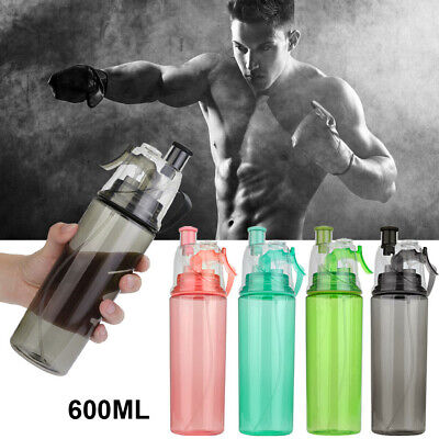 600ML Sport Cycling Mist Spray Water Gym Beach Bottle Leak-proof Drinking Cup