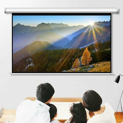 Leadzm 84 Inch HD Pull Down Manual Projector Screen Projection 16:9 - White