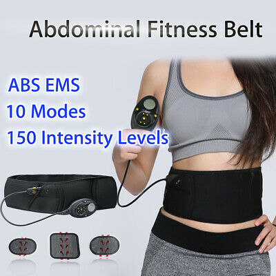 150 Level EMS Muscle Training Toning Belt ABS Gear Abdominal Stimulator Trainer