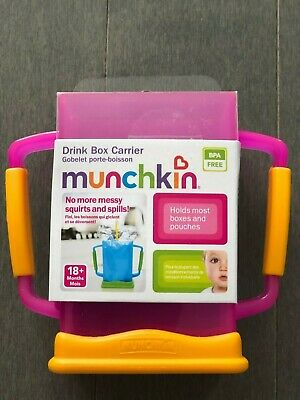 Munchkin Drink Box Carrier Toddler NO more messy squirts and spills!!