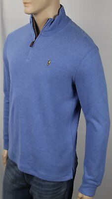 eb76b62ac POLO RALPH LAUREN Bleu Estate Côtelé Demi Zip Pull Multi Couleur Poney Neuve