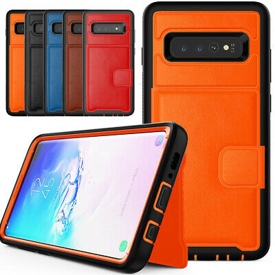 PU Leather Credit Card Holder Phone Case For Samsung Galaxy S10 Plus S10e 2019