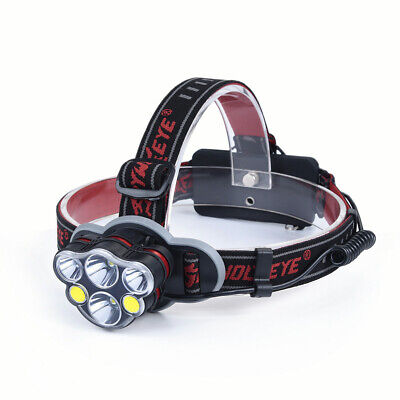 SKYWOLFEYE XM-L T6+ COB LED Headlamp Light Headlight Flashlight Head Torch SOS