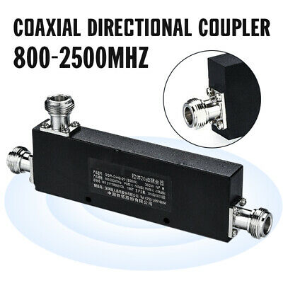 N Type Female RF Coaxial Directional Coupler 800-2500MHz 10/20/30/40dB 200 Watts