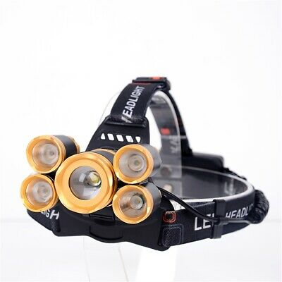 Tactical Superbright Aluminum LED Headtorch Push Switch Headlight Lamp Strobe