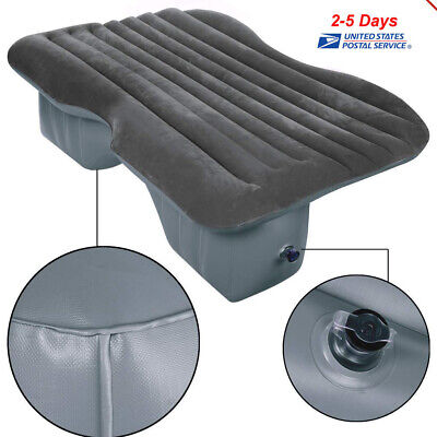 Inflatable Car Seat Sleep Rest Mattress Air Bed For Travel Camping Pillow Device