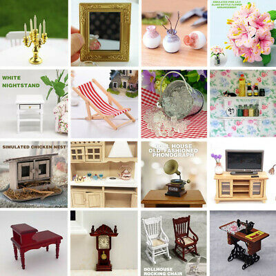 Miniature Room Kitchen Furniture Display Accessory For 1/12 Dollhouse Decoration