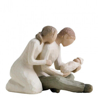 NEW New Life Mother & Father with New Baby Figurative Sculpture - Willow Tree