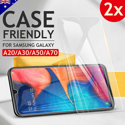 2 Pack Tempered Glass Screen Protector Film Guard For Samsung Galaxy A20 A30 A70