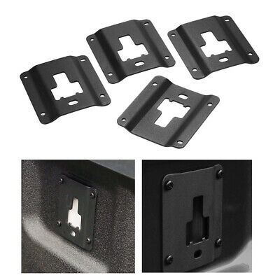 4X Truck Bed Cargo Tie Down Brackets Plates for Ford F150 F250 F350 15-18 U4S5