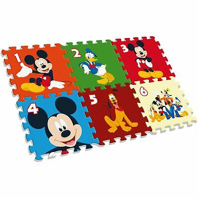 Mickey Mouse Foam Play Mat Giant Puzzle Disney Kids 6 Pieces