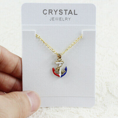 Woman Man Lover Cute Enamel Anchor Pendant Necklace New Jewelry Gift Hot Fashion