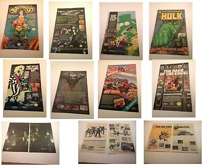 Vtg Video Games Advertising Print ADS NES SNES PS1 N64 SEGA+ RARE HTF You choose