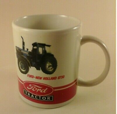 Ford New Holland 8730 tractor china coffee mug--brand new and very hard to find!