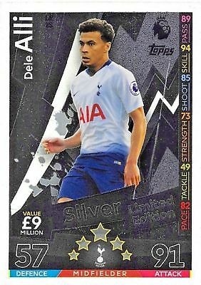 Match Attax 2018/2019 18/19  LE2S DELE ALLI SILVER LE2S LIMITED CARD BY TOPPS .