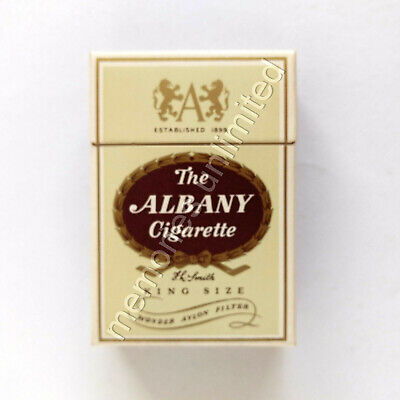 1960s ALBANY 20 KING SIZE FILTER CIGARETTES EMPTY PACKET milk bar