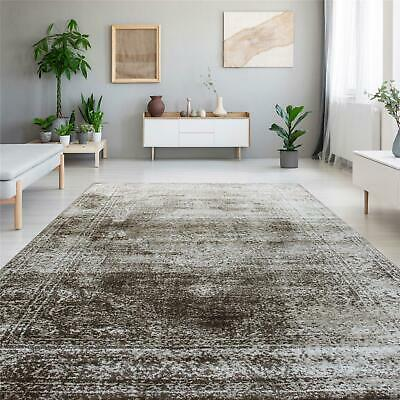 Brown Lounge Rugs Persian Style Vintage Medallion Area Carpets Long Rug Runners