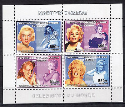 Congo 2006 - Marilyn Monroe American Actress on stamps  MNH**