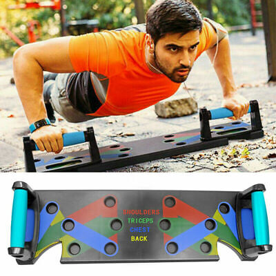 9 in 1 Push Up Rack Board System Fitness Workout Train Exercise Push Up Stands
