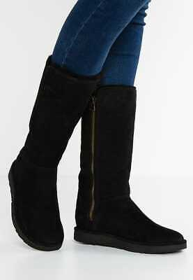 b1ff047d025 UGG ABREE II Nero Black 1016590 Shearling Side Zip Women's size 6 7 ...