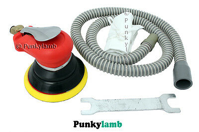 "Professional 5"" inch Self Vacuum Type Random Orbital Air Palm Orbit Sander NEW"