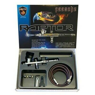 Raptor Gravity Feed Double Action Set w/ 0.25, 0.3 Airbrush Kit RG-3S Paasche