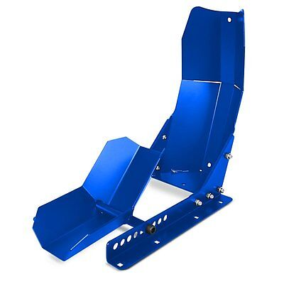 Motorcycle Transportation Rack Frontwippe Radklemme Constands Easy plus Blue