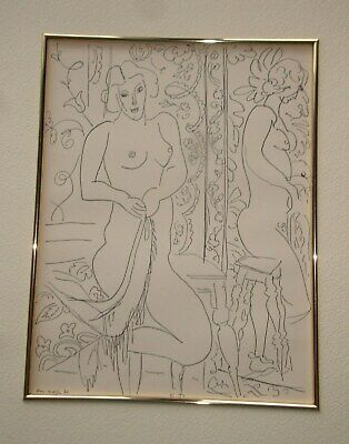 Henri Matisse Matted  Lithograph Nude Mirror Reflection