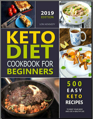 KETO DIET COOKBOOK FOR BEGINNERS 500 Easy Keto Recipes Eb00k/PDF - FAST Delivery