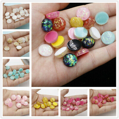 12MM Assorted Heart Resin Gold Foil Cabochons Flatback Ornament Accessories 20x