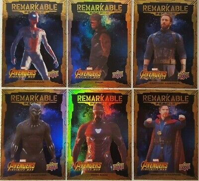 2018 Upper Deck Avengers Infinity War REMARKABLE PEOPLE Card Set of 20  RM