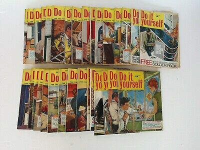 Vintage 1960-68 DO IT YOURSELF Magazines - Link House Group - 31 Issues - GC
