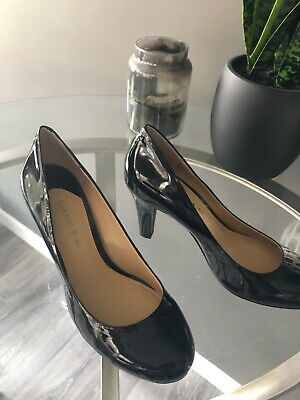 21db65fe0a GIANNI BINI WOMENS 10 Navy Blue Pumps Patent Leather Dreasy Heels ...