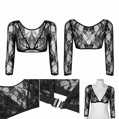 NEW Women Seamless Shoulder Arm Shaper Slimming Wrap Posture Lace Short Tops OR