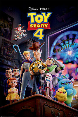 Toy Story 4 - Movie Poster / Print (Antique Shop Anarchy) (Woody & Friends)