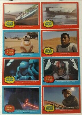 2015 Topps Star Wars Chrome Perspectives FORCE AWAKENS Preview Card Set of 8