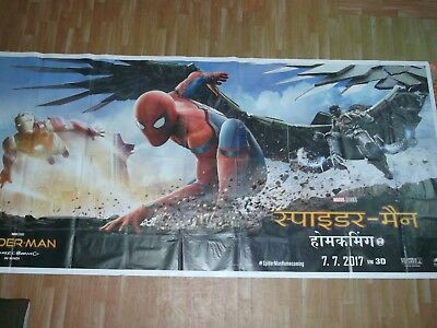 SPIDER MAN HOMECOMING 2017 HINDI Orig Promo 6 SIX SHEET POSTER INDIA Ltd HUGE!