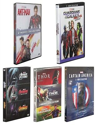 Pick 5 Marvel DVD Lot Movie Collection Avengers Ant Man Captain America Thor NEW
