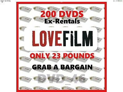 200 Mixed Dvds From Lovefilms