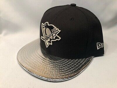 factory authentic 6bef8 60de5 PITTSBURGH PENGUINS METALLIC SLITHER NEW ERA 59FIFTY FITTED Cap Hat Size 7  1 4