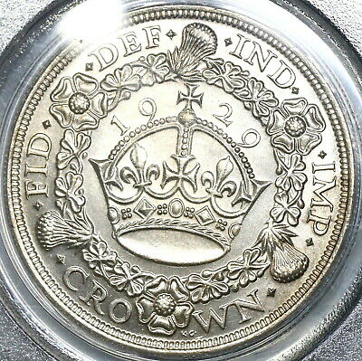 1929 PCGS MS 63 George V Crown Great Britain Silver Coin 4994 Minted (17122105D)