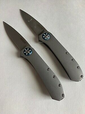 Lot Of 2 Kershaw Kai 3871 Amplitude Rexford, Assisted Open Pocket Knives
