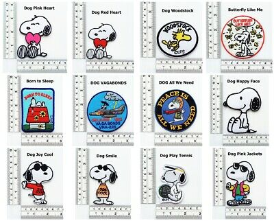 Woodstock Snoopy Iron On Patch Dog Patch Embroidered Applique Patch For Jackets