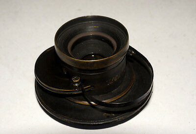 DARLOT ULTRA RARE VINtAGE BRASS LENS WITH UNUSUAL SHUTTER AND APERTURE SN 1071