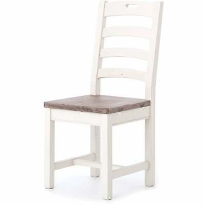 Handmade Rustic Ladder Back Dining Chair (India)