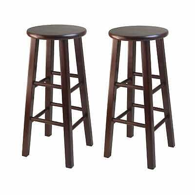 Awe Inspiring 2 Winsome Bar Stools Solid Wood Pacey Color Espresso 29 In X Ibusinesslaw Wood Chair Design Ideas Ibusinesslaworg