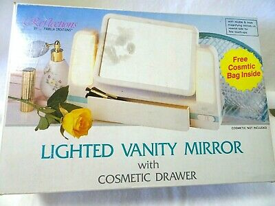 Reflections Pamela Creations Double-sided Lighted Vanity Makeup Mirror-NOS