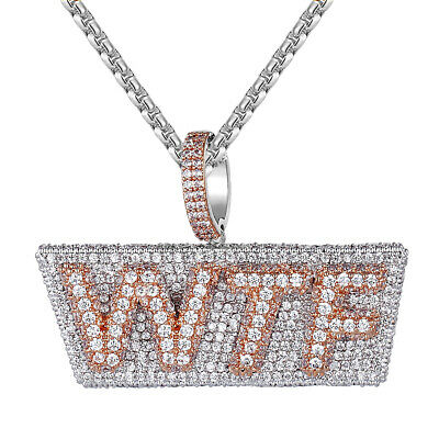 Men/'s Double Layer Paper Chasin Iced Out Rich Bills Custom Pendant Free Chain