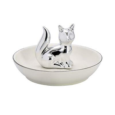 ROSA&ROSE Fox Ring Holder Ceramic Dish For Jewelry And Trinket